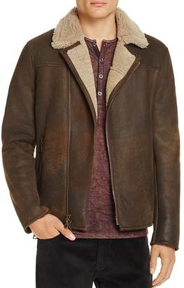 John Varvatos Collection Shearling Moto Jacket $3,298 thestylecure.com
