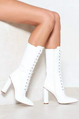 Nasty Gal Another String to Your Bow Faux Leather Boot