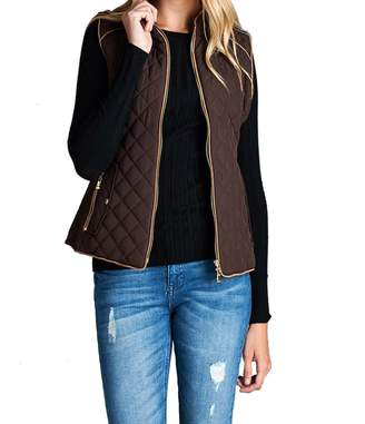 412e2199cd5 Hollywood Star Fashion Women s Quilted Vest Jacket Coat