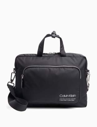 Calvin Klein Repeating Logo Nylon Laptop Bag