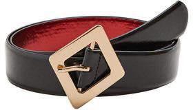 MANGO Glossed-effect belt