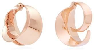 Ryan Storer - Sansevieria Sculpted Hoop Earrings - Womens - Rose Gold
