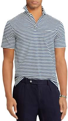 Polo Ralph Lauren Striped Custom Slim Fit Jersey Polo Shirt