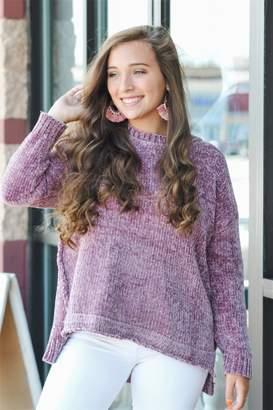 She + Sky Plum Perfect Sweater
