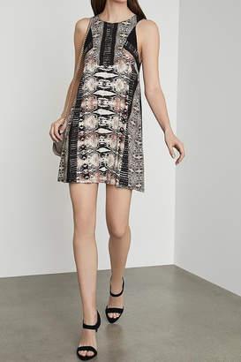 BCBGMAXAZRIA Print A-Line Jersey Dress