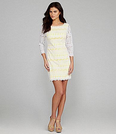 Gianni Bini Taylor Lace Shift Dress