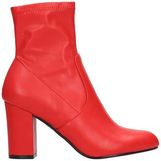 Steve Madden Actual Red Faux Leather Bootie