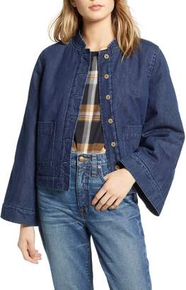 Madewell Reversible Fleece Jean Jacket