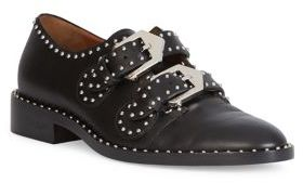 Givenchy Elegant Studded Leather Monk-Strap Loafers $1,175 thestylecure.com