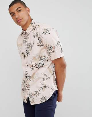 Bershka Shirt With Floral Print In Pink