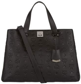 MCM Large Monogram Leather Tote Bag
