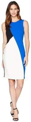 Calvin Klein Black/Blue Color Block Dress Women's Dress