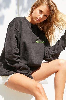 Champion + UO Neon Crew-Neck Sweatshirt $55 thestylecure.com