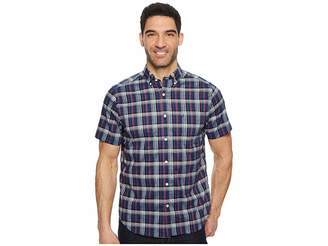 Nautica Wear To Work Short Sleeve Large Plaid Woven Shirt Men's Short Sleeve Button Up