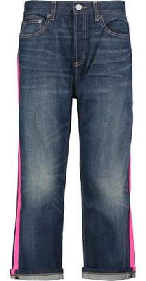 Marc By Marc Jacobs Annie High-Rise Cropped Coated-Trimmed Straight-Leg Jeans