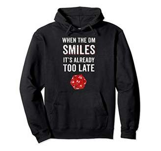 Too Late When The DM Smiles It's Already Hoodie Red Dice