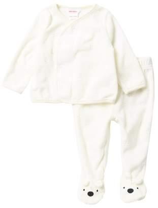 Joe Fresh Knit Bear Cardigan & Pants Set (Baby Boys)