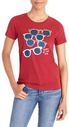 J.Crew MERCANTILE Sunglasses Graphic Cotton Tee