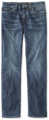 L.L. Bean L.L.Bean Men's Signature Five-Pocket Jeans with Stretch, Slim Straight Lined