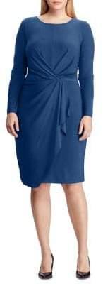 Lauren Ralph Lauren Plus Pleated Jersey Sheath Dress