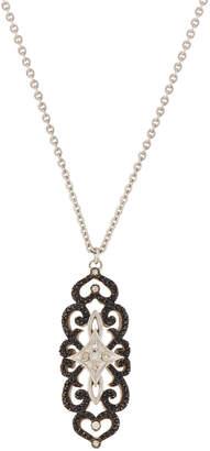 Armenta Old World Round Chalcedony & Diamond Pendant Necklace, 0.16tcw