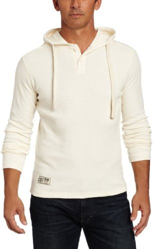 Company 81 Comanpy 81 Men's Long Sleeve Thermal Henley With Hood