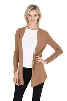 Cashmeren Classic Soft Knit Open Cardigan Cashmere Wool Long Sleeve Sweater for Women (