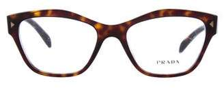Prada Tortoiseshell Square Eyeglasses