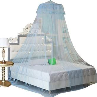 GYBest Round Lace Curtain Dome Bed Canopy Netting Princess Mosquito Net (Aqua Blue)