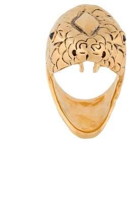 Saint Laurent serpent-head ring