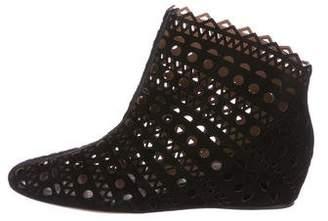 Alaia Suede Laser Cut Boots