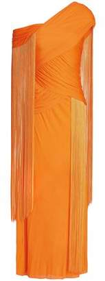 Emilio Pucci Fringed Ruched Stretch-Jersey Gown