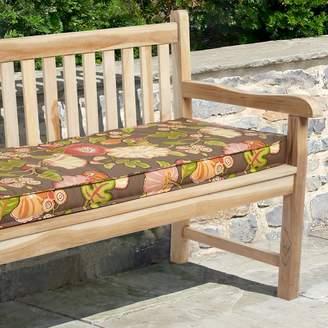 """Mozaic P. Kaufmann 60"""" x 19"""" Floral Outdoor Bench Cushion"""