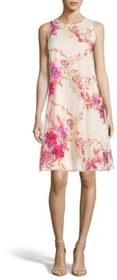 ECI Embroidered Shift Dress