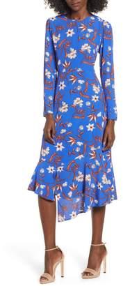 ASTR the Label Flower Print Asymmetrical Hem Dress