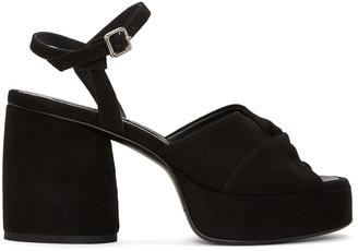 McQ Alexander McQueen Black Suede Arizona Sandals $480 thestylecure.com
