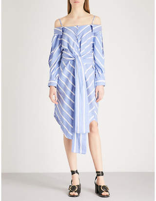 Maje Stripe pattern woven shirt dress