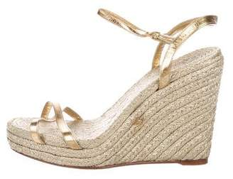 Gucci Metallic Wedge Sandals
