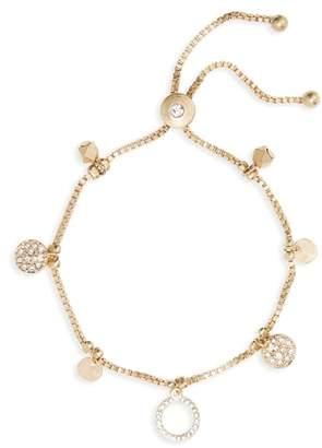 Canvas Jewelry Circle Charm Box Chain Bolo Bracelet