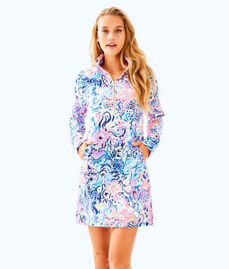 Lilly Pulitzer Womens UPF 50+ Skipper Printed Popover Dress
