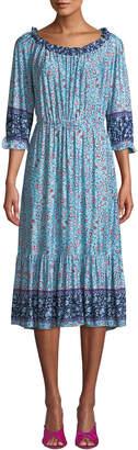 Melissa Masse Off-The-Shoulder Floral Ruffle dress