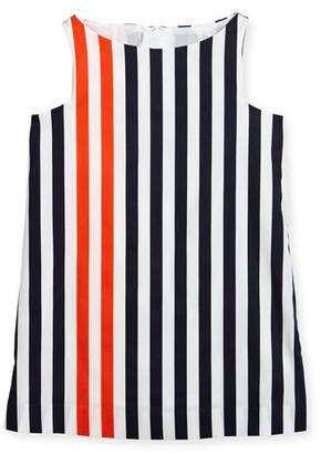 Milly Minis Nautical Stripe Angular Shift Dress, Size 4-7