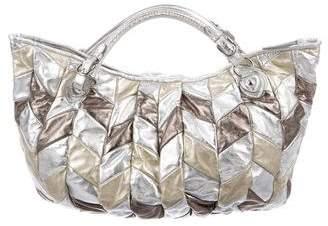 Miu Miu Metallic Leather Satchel