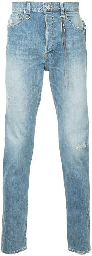 Mastermind World straight leg jeans with...