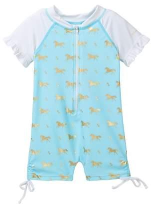 Snapper Rock Short Sleeve Pony Sunsuit (Baby Girls)