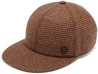 Maison Michel Hailey dogstooth wool-blend cap