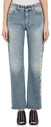 Fiorucci Women's Bella Logo Straight Crop Jeans - Lt. Blue Size 24