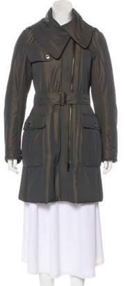 Burberry Knee-Length Puffer Coat Grey Knee-Length Puffer Coat