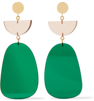 Isabel Marant - Gold-tone Acrylic Earrings - Green $245 thestylecure.com