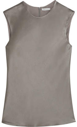 Protagonist Hammered-satin Top - Gray